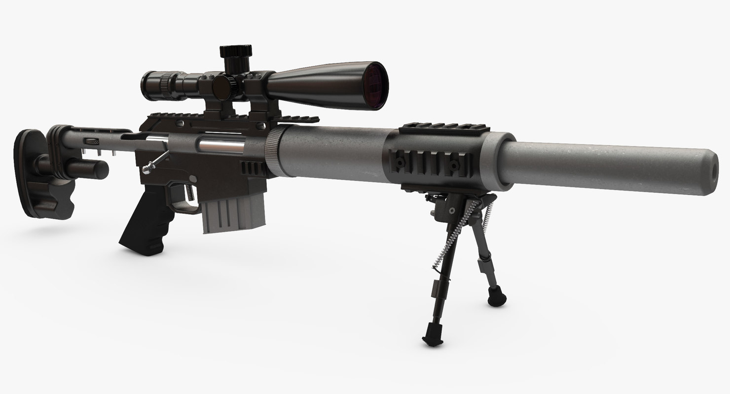 sniper rifle cs5 3D model