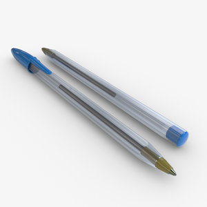 3D blue neutral pen