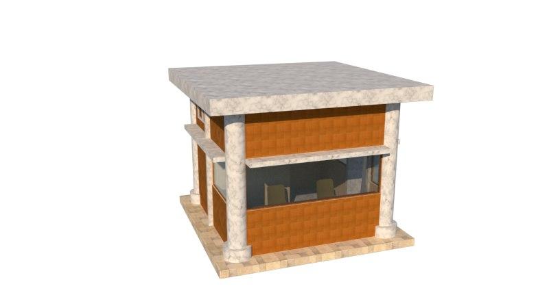 3D security post model