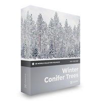 CGAxis Models Volume 98 - Conifer Trees C4D
