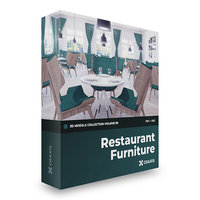 CGAxis Models Volume 99 - Restaurant Furniture FBX OBJ