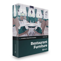 restaurant furniture cgaxis v-ray 3D model
