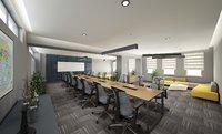 modern meeting room 3D model