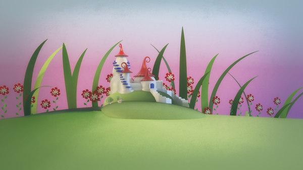 cartoon toon house 3D