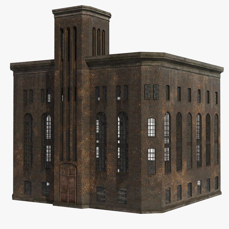 old factory 3D model