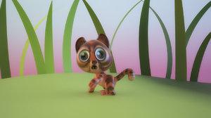cartoon fun cat 3D