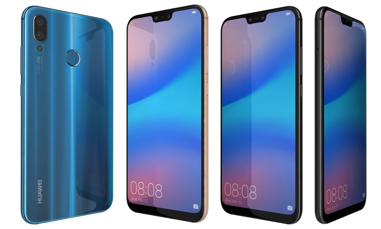 3D model huawei p20 lite colors