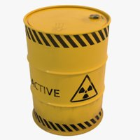 Nuclear Waste Barrel 3D Model
