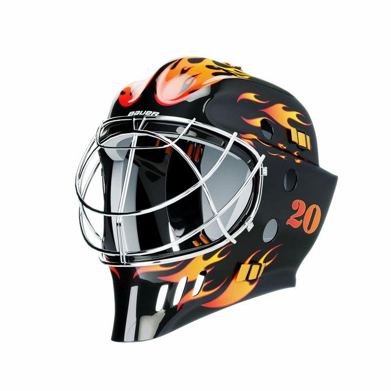 bauer hockey helmet goalie 3D