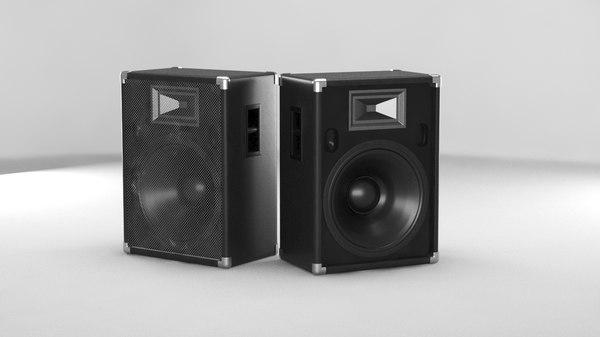 3D model speakers music baffle