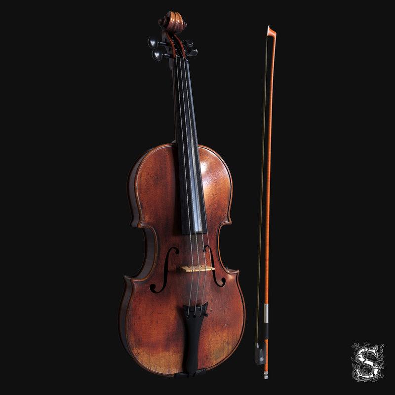 bow violin 3D