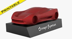 supercar car 3D model
