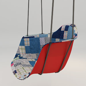 3D swing chair hanging model