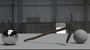 3D axe pick model