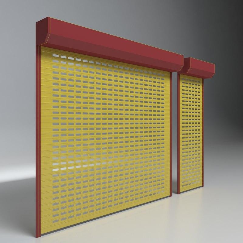 Shop Shutter Garages 3d Model Turbosquid 1274955