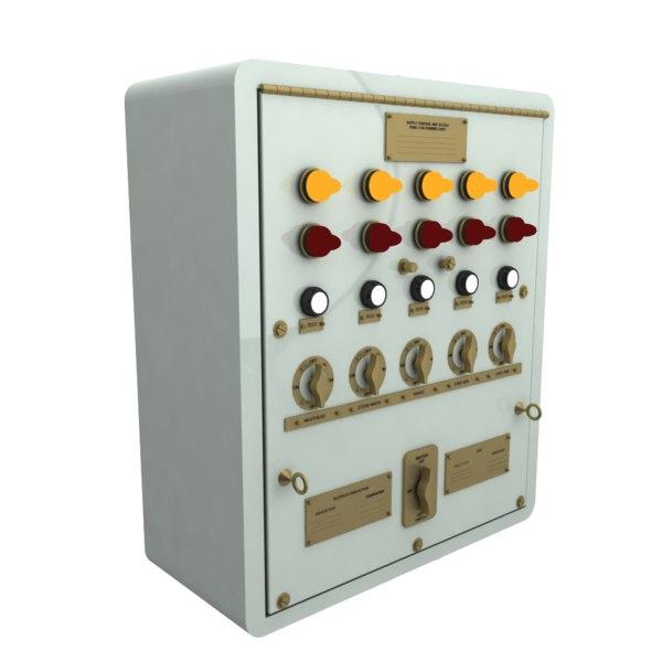 3D model electrical emergency motor panel