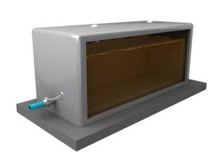 3D model fuel day tank
