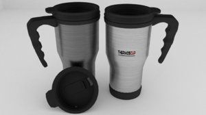 3D thermos cup
