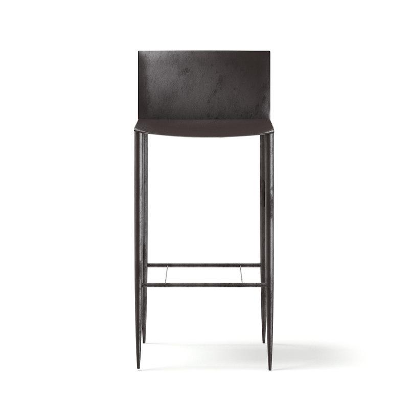 tall metal chair model