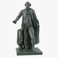 george washington statue 3D model