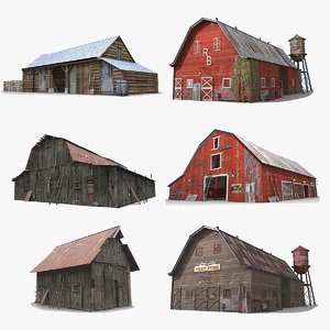 photorealistic barns 3D