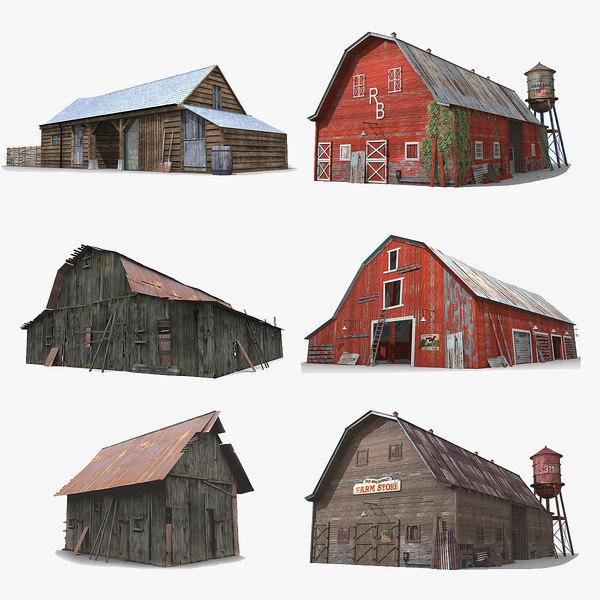 photorealistic barns 3D
