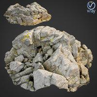scanned rock cliff d2 3D