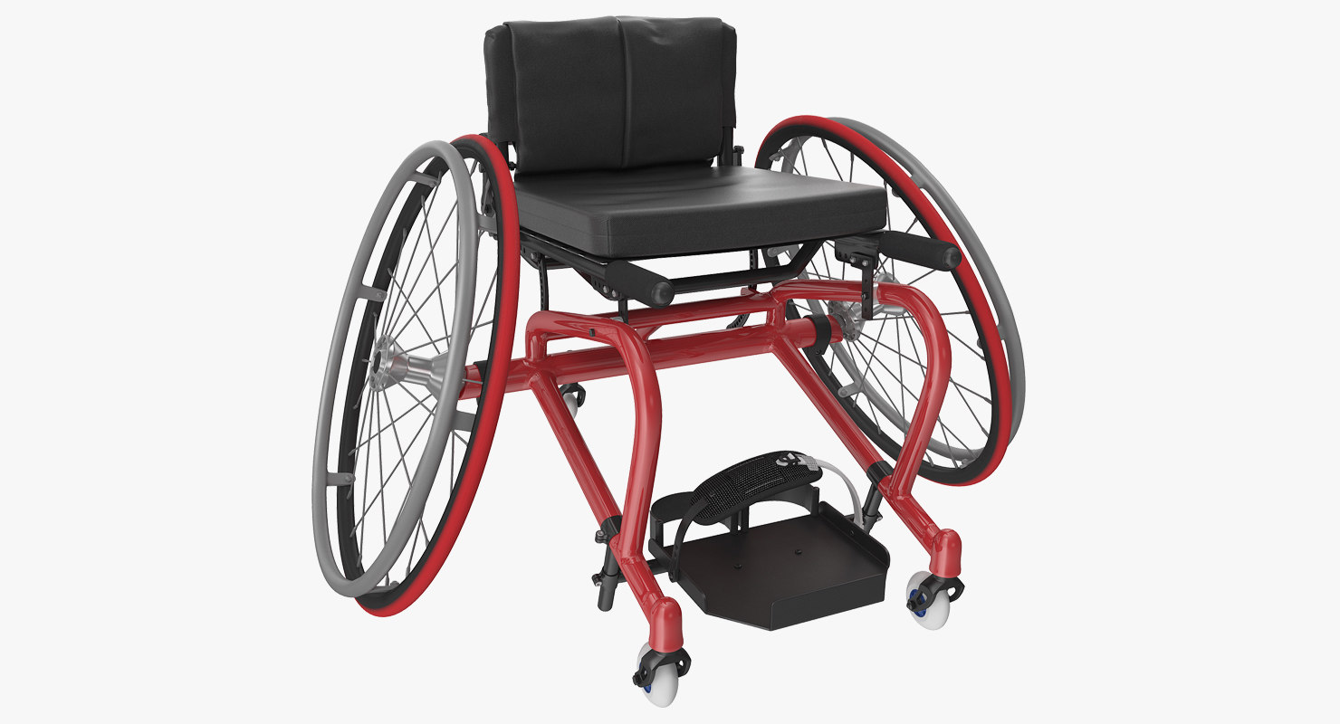 3D model court sports wheelchair generic