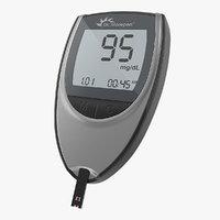 blood glucose meter 3D