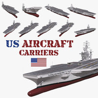 3D aircraft carriers model