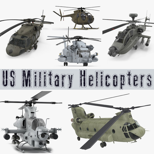 3D military helicopters