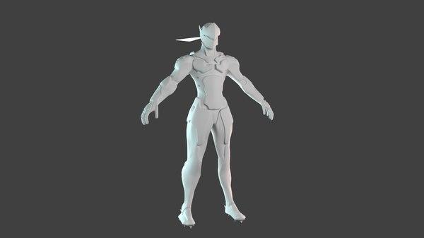3D model overwatch genji