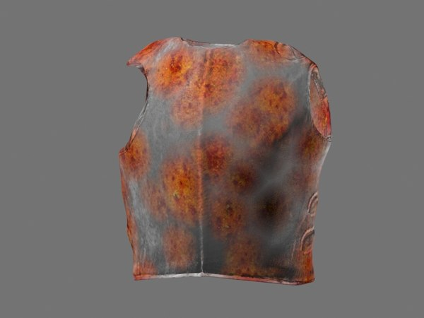 3D iron body armor model