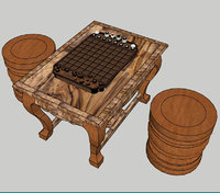 khmer chess board 3D model