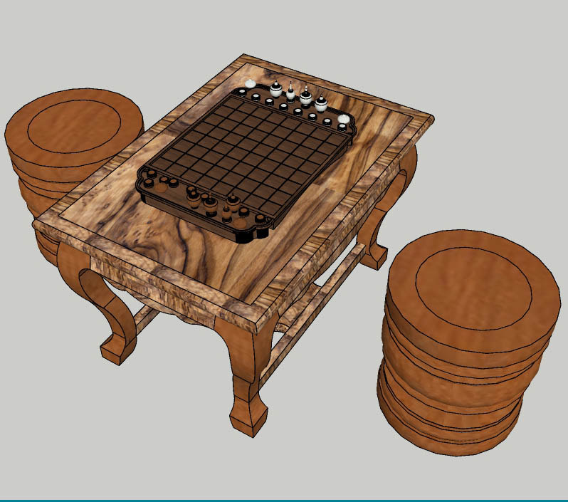 khmer chess board 3D model