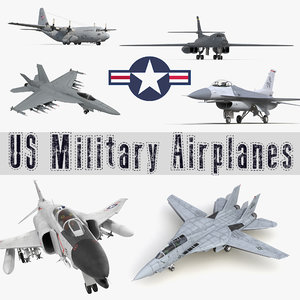 3D military airplanes