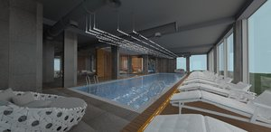 pool sauna model