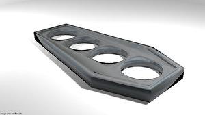 brass knuckle 3D