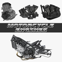 Motorcycle Engines 3D Models Collection 2