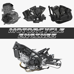 motorcycle engines 2 3D model