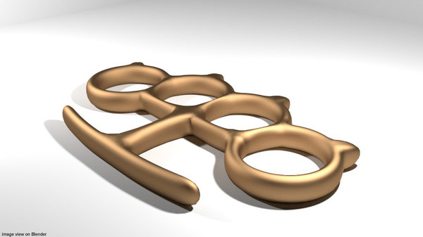 3D brass knuckle model