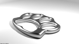 3D model brass knuckle