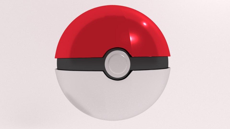 3D pokeball blender model