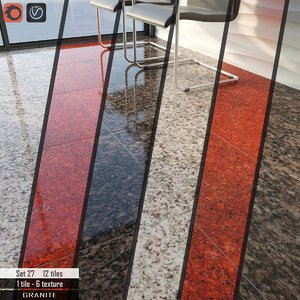 tile cosmo stone set 3D model