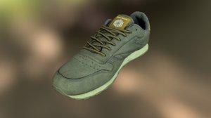 3D worn reebok sneaker shoe