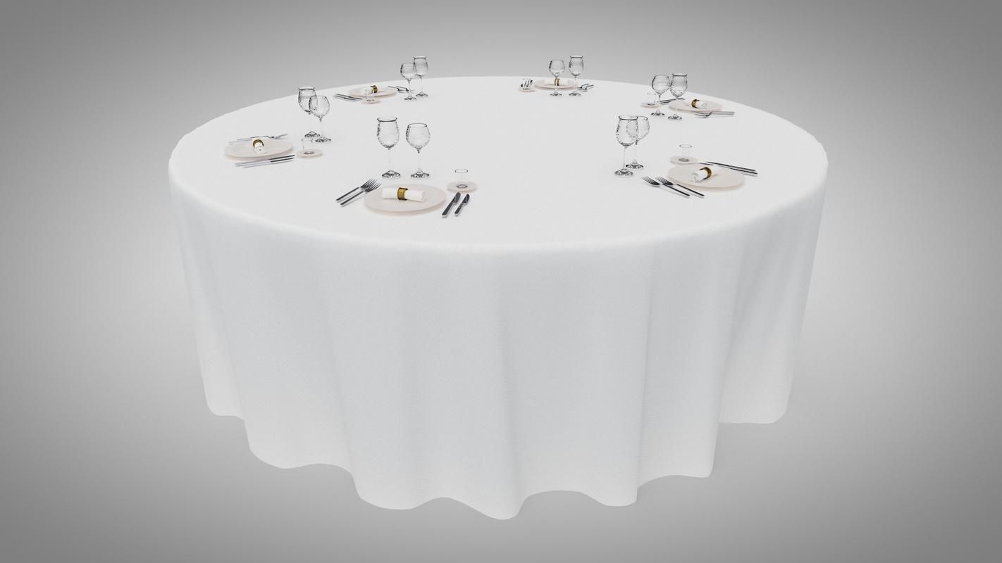 3D dinner table cutlery model