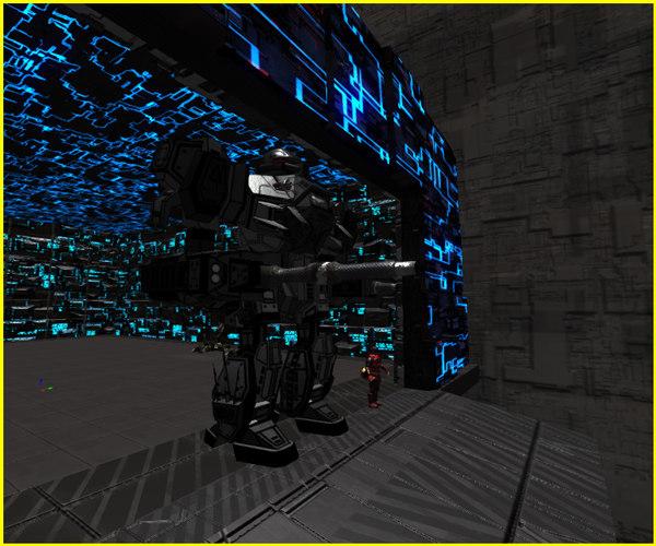 3D mech greebled hangar
