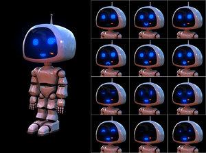 robot rigged 3D