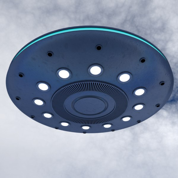3D ufo u f model