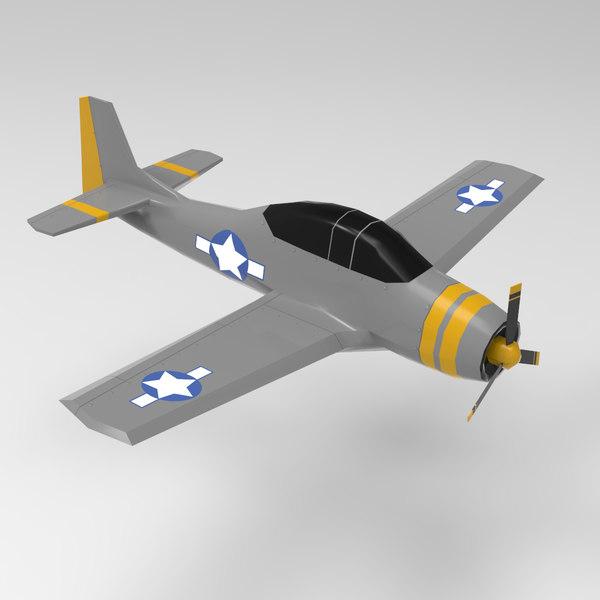 ww2 airplane - military 3D model